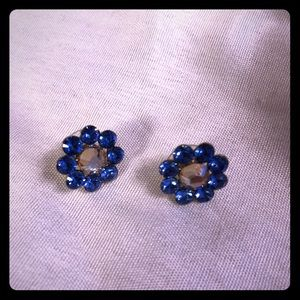 NWOT Tarina Tarantino Blue Flower Earrings